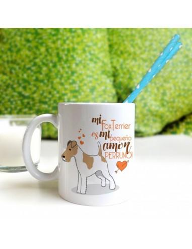 Taza Pincher marrón/crema